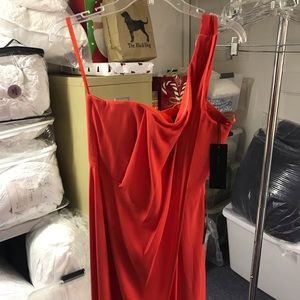 NWT - bcbg poppy one shoulder gown - Size 6